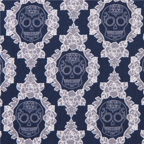 Related to Day of the Dead Skeleton and Skull Fabric - Cloth from