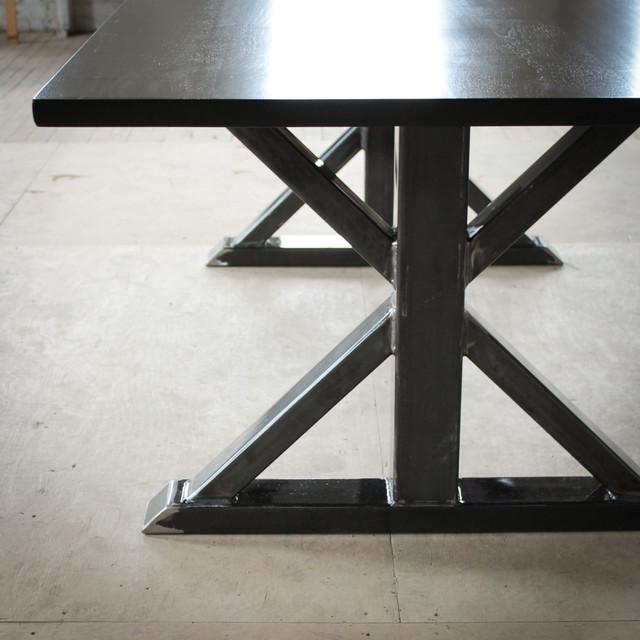 Steel Trestle Extension Dining Table Industrial Dining  : industrial dining tables from www.houzz.co.uk size 640 x 640 jpeg 82kB