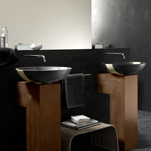 Modern Vessel Sinks : Copalto Grantie Vessel Sink - Modern - Bathroom Sinks - by maestrobath