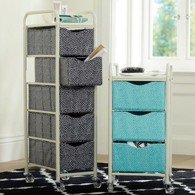 Mini Dot Ready To Roll Storage Cart Bathroom Cabinets