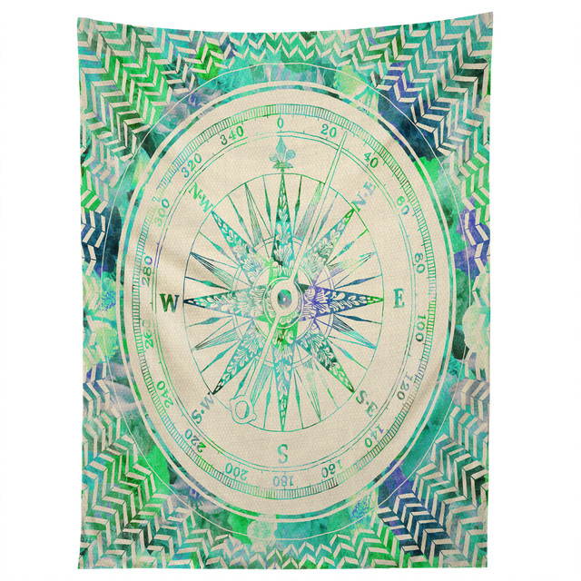 Deny designs bianca green follow your own path mint tapestry
