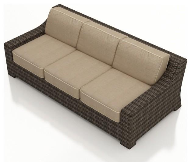 3 Pc Bayside Outdoor Sofa Set Modern Garden Lounge