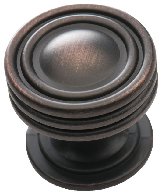 Southern Hills Round Oil Rubbed Bronze Cabinet Knob, Round, Pack of 10 - Traditional - Cabinet ...