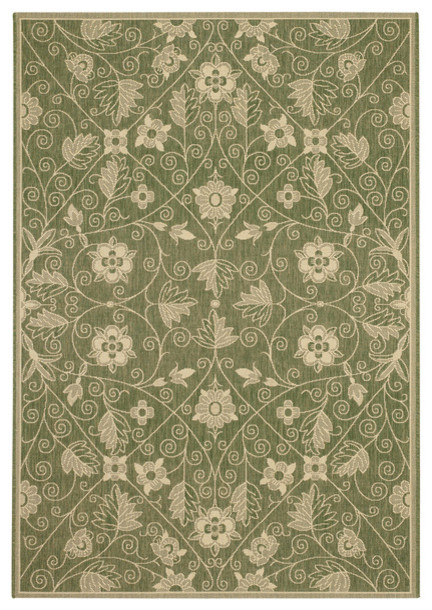 Capel Rug Leaf Green 5 39 3 X7 39 6 Traditional Outdoor