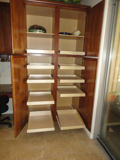 ... Roll Out Pantry Cabinet With Pantry Pull Out Shelves By  Slideoutshelvesllc.com Traditional With Double