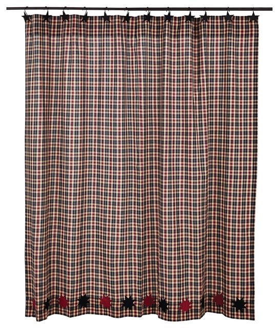 Carson Star Shower Curtain 72 X72 Farmhouse Curtains By Uber Bazaar