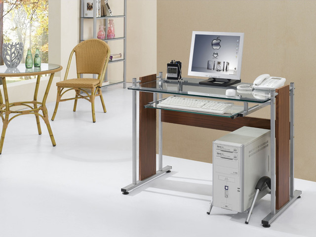 Home Office / Dorm Room Computer Desk - Modern - Desks And Hutches - other metro - by Vista Stores