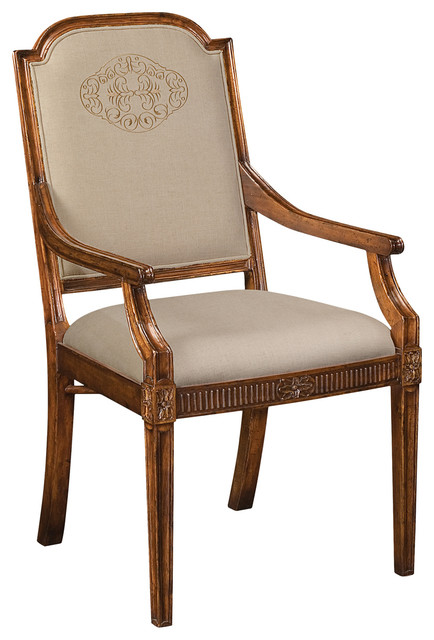 Traditional Upholstered Dining Chairs ~ Jonathan charles upholstered dining chair