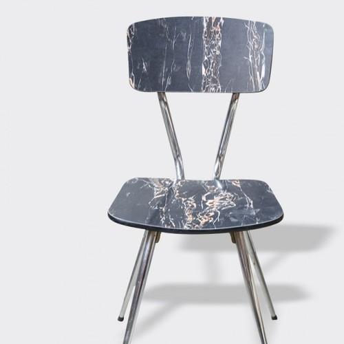 retro chaise de salle a manger - La folie du marbre blanc