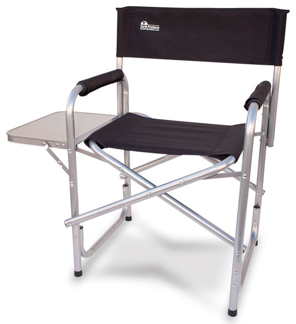 Earth Heavy Duty Folding Director's Chair With Side Table Beach Style Out