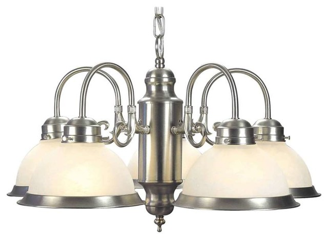Forte Lighting Five Light Chandelier In Brushed Nickel Chandeliers By Shopfreely