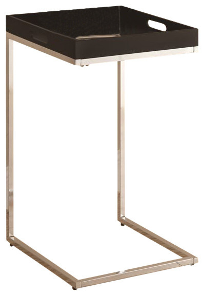 Accent Table With Serving Tray, Cappuccino Contemporary Sidobord& avlastningsbord av