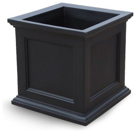 Oxford Square Planter Black Large Contemporary