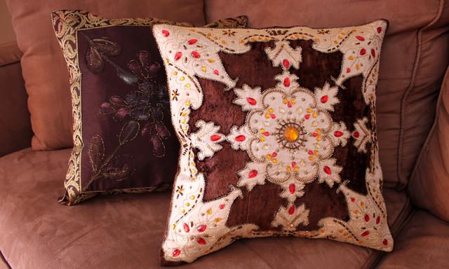 Fun Decorative Pillow Combinations Asian Decorative