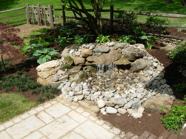 Pondless Water Feature Traditional Philadelphia By Ridge Crest Landscaping And Lawn Care Llc