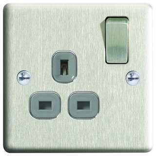 13a switched socket 1g modern light switches plug sockets by wickes - Modern switches and sockets ...