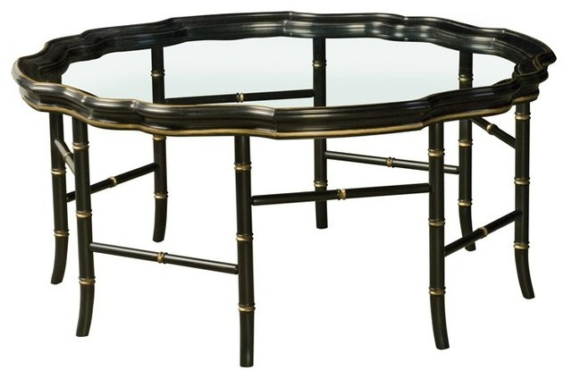 Henkel Harris 42 Round Coffee Table Traditional Coffee Tables By Luxedecor