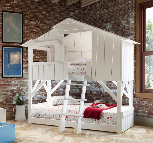 Kids Bedroom Treehouse Bed Bunk Bed Bunkbed Beach Style