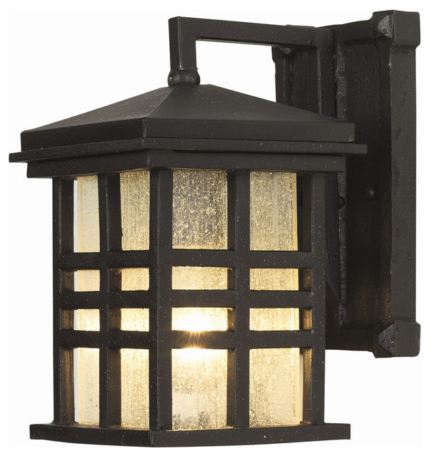 Rustic craftsman coach wall lantern modern outdoor for Modern craftsman lighting