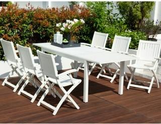 robert dyas fsc richfield white garden furniture set traditional outdoor dining sets. Black Bedroom Furniture Sets. Home Design Ideas