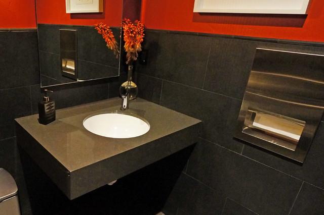 Vanity Side Splash : The row at tetherow modern vanity tops and side