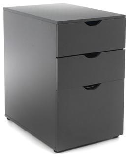 Gothan caisson de bureau 3 tiroirs contemporain meuble bureau et secr tai - Bureau architecte alinea ...
