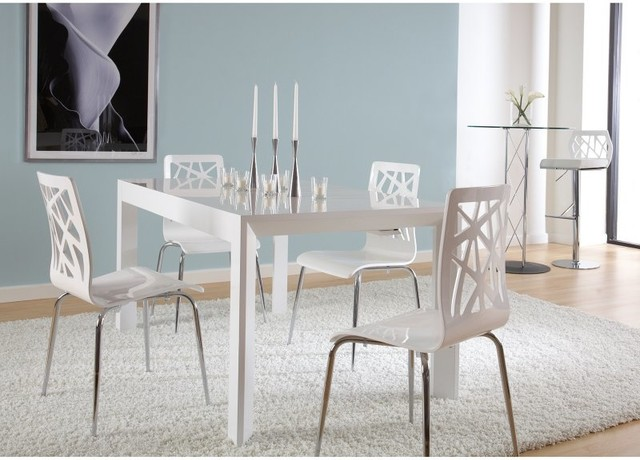 euro style adara 5 piece dining set with sophia chairs