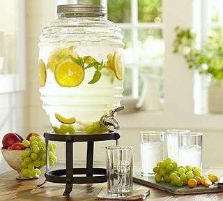 Farmhouse Glass Beverage Drink Dispenser - Traditional - Beverage ...