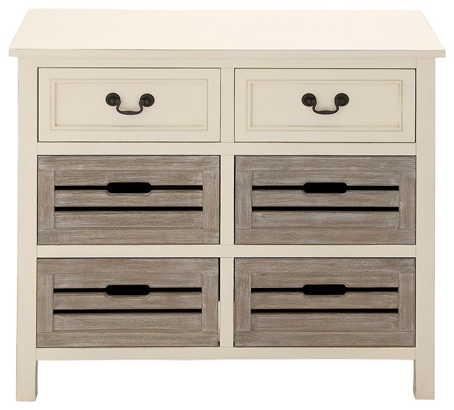 Countryside Wood Dresser, White and Gray - Contemporary - Dressers - by GwG Outlet