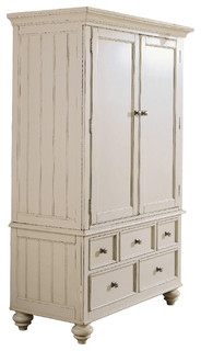 American Drew Camden Light Armoire In White Painted