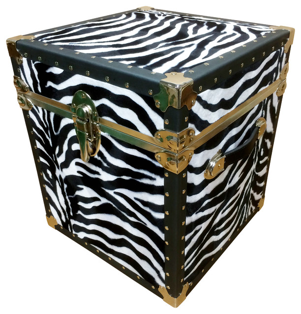 End Table Zebra Eclectic Side Tables And Accent Tables