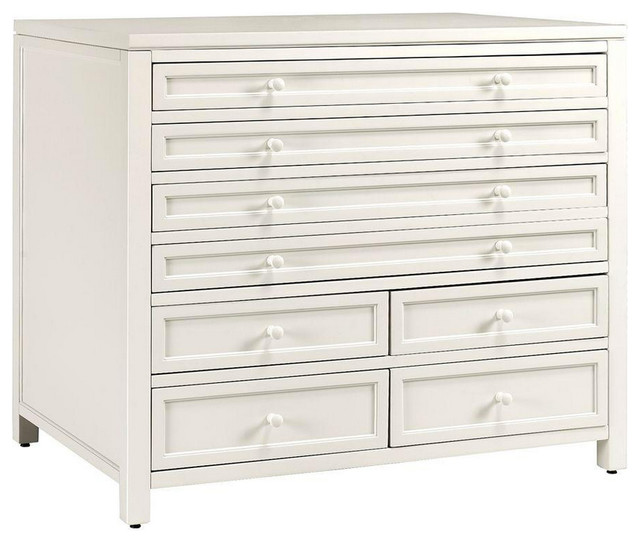 8-Drawer Craft Space/Flat-File - Beach Style - Accent Chests And Cabinets - by Luxe Home Decorators
