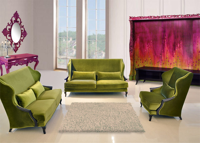 Angelique luxury living room sofa set modern living for Contemporary lifestyle furniture dallas
