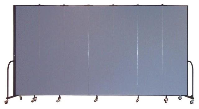 Freestanding 88 in Portable Room Divider w 7 Panels Lake