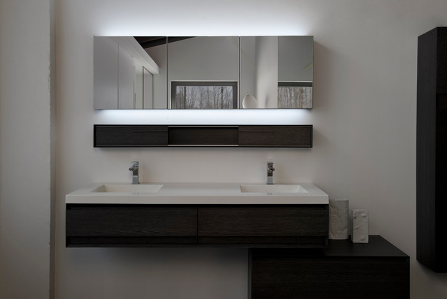 60 vanity with optional led m collection modern bathroom mirrors montreal by wetstyle - Bathroom mirrors montreal ...