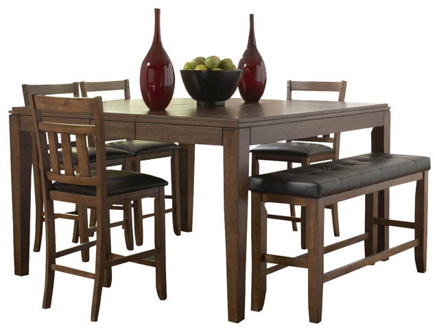 homelegance kirtland butterfly leaf counter height dining