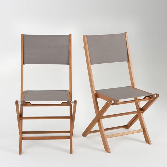 chaise de jardin pliante eucalyptus lot de 2 contemporain chaise de jardin par la. Black Bedroom Furniture Sets. Home Design Ideas