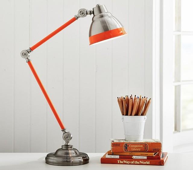 Jumbo Jordan Task Lamp Orange Contemporary Desk Lamps