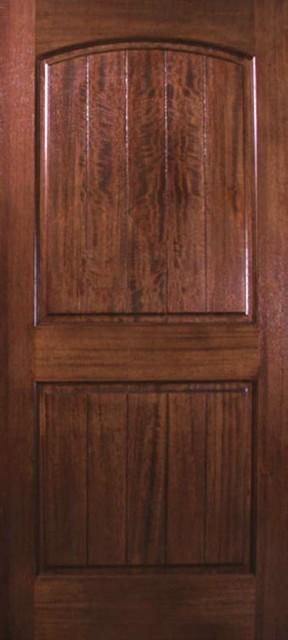 slab exterior single door 80 wood mahogany 2 panel v