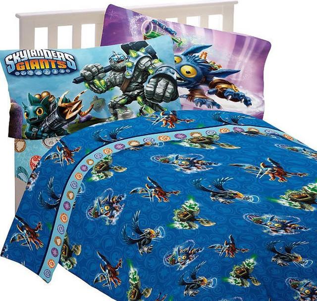 skylanders full bed sheet set energy conquers bedding