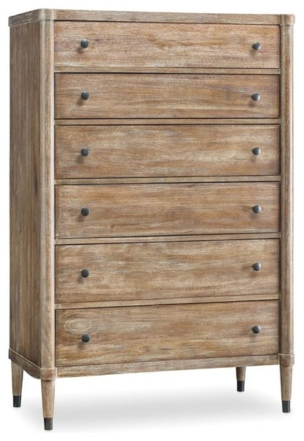 Furniture Studio 7H Light Bedroom Collection, Lang Chest beach-style...