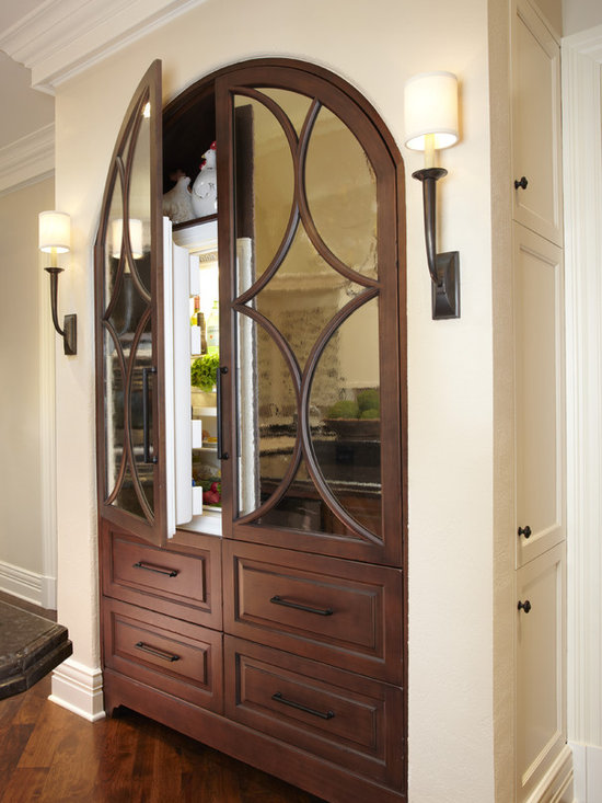 Mirrored Refrigerator Home Design Ideas, Pictures, Remodel and Decor