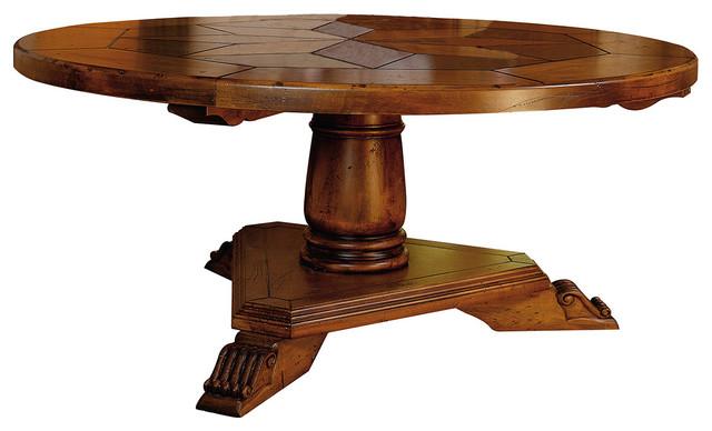 Estrella round dining table 170 cm diam traditional for Traditional dining table uk