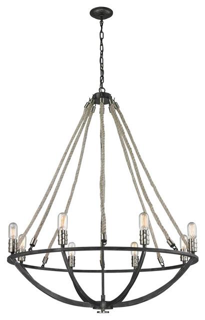 Rustic Rope Chandelier Lighting