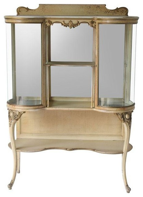 Pre-owned Antique French Curio Cabinet - Farmhouse - Accent Chests And Cabinets