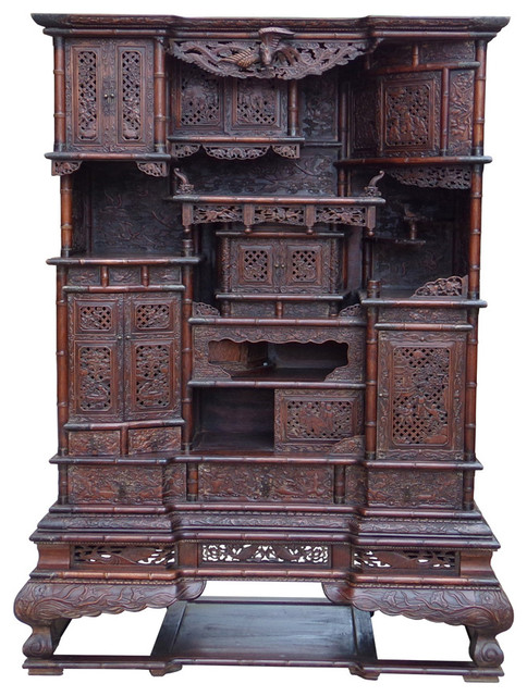 Chinese Rosewood Display Storage Hutch Cabinet Hcs1501-B ...