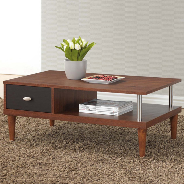 Baxton Studio Eastman Sonoma Oak Finishing Modern Coffee Table Contemporary Coffee Tables