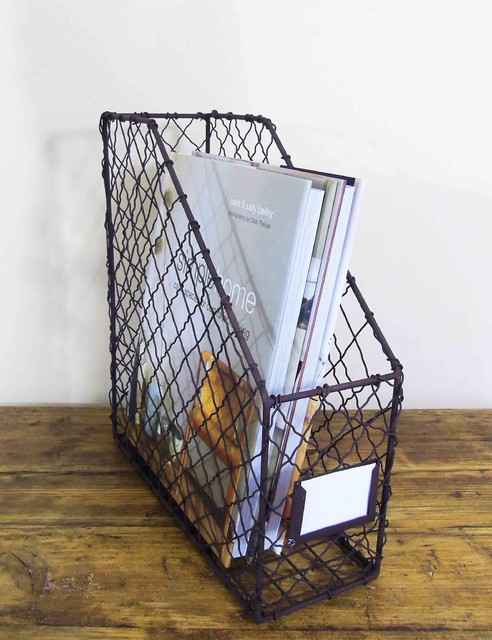 wire magazine rack industrial desk accessories north. Black Bedroom Furniture Sets. Home Design Ideas