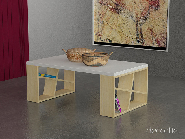 Honey coffee table white oak contemporary coffee tables other metro by decortie Honey oak coffee table