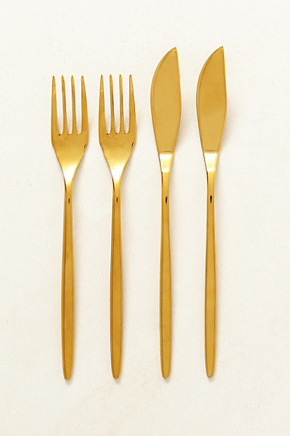 Doma Fish Flatware Set Of 4 Contemporary Flatware And